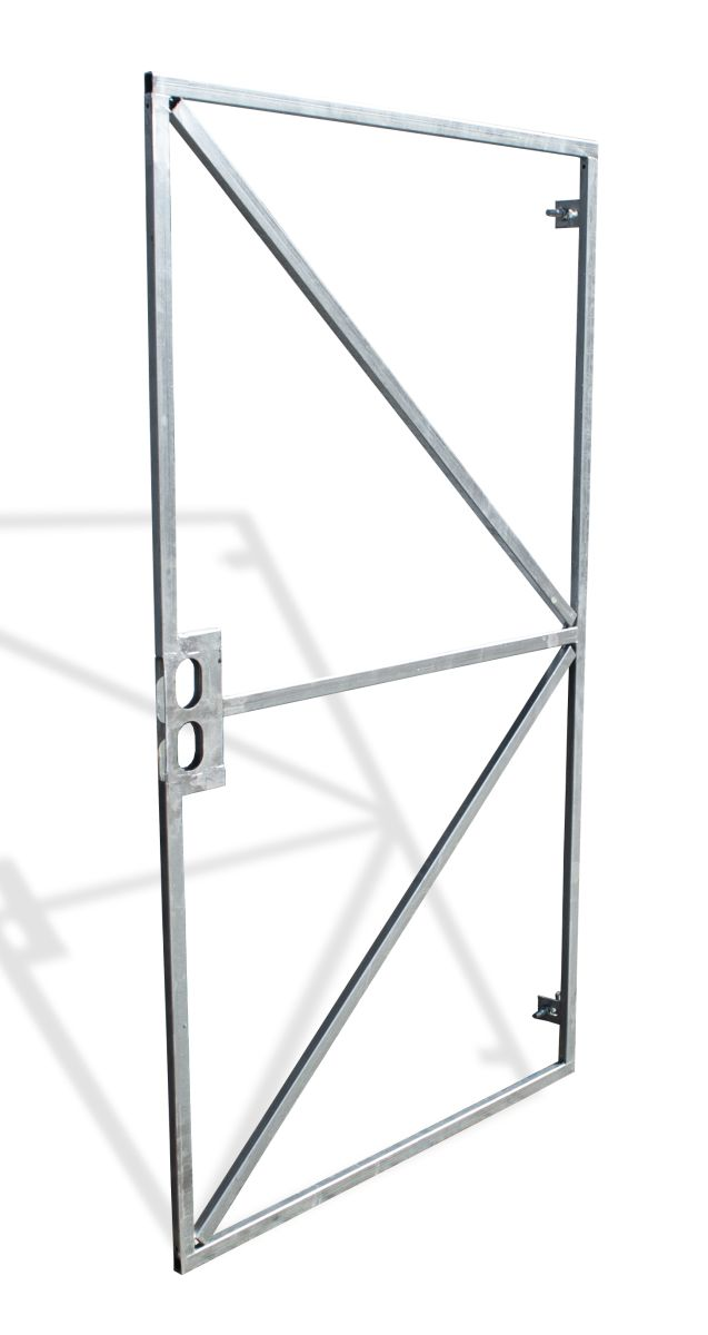 21135182 poortframe met slotkast en garnituur verstelbaar universeel h180xb100 cm 1