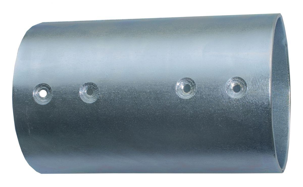 21811102verbindingsset voor ronde palen 10 cm gegalvaniseerd 2weg