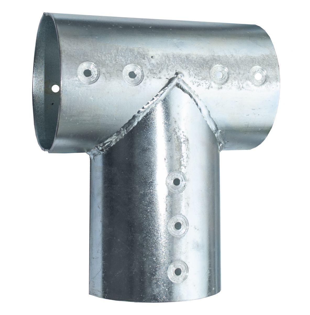 21811103verbindingsset voor ronde palen 10 cm gegalvaniseerd 3weg
