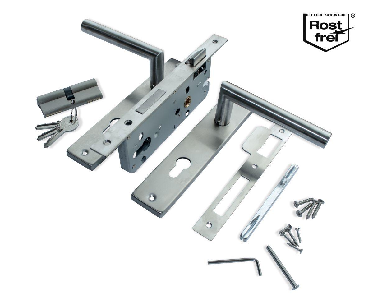 25040451 eurofix deurslotset pc85 rvs krukschild recht voor en sluitplaat rvs 2
