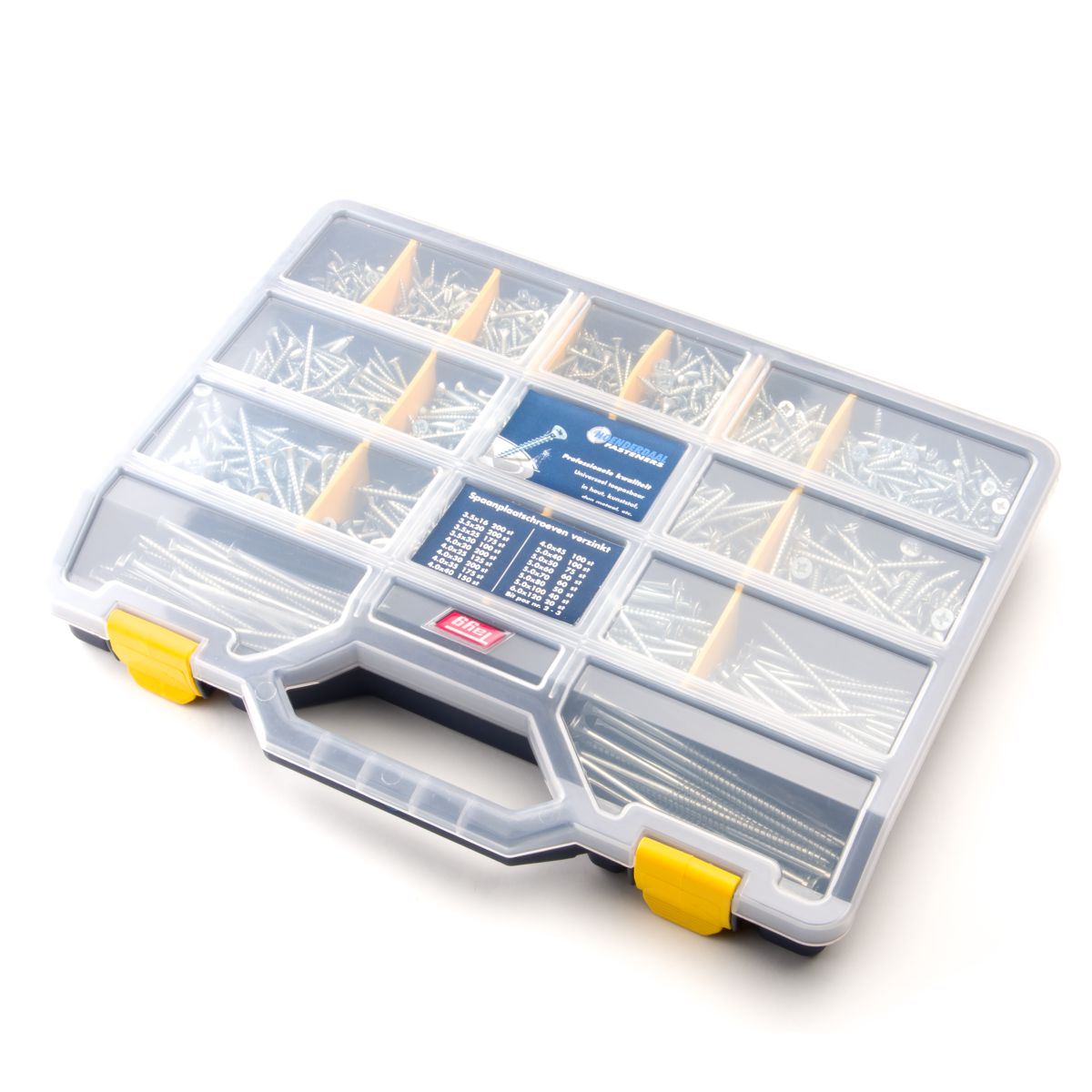 verpakkingassortimentskofferspaanplaatschroevenverzinkth