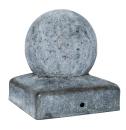 Paal-ornament bol verzinkt 71x71 MM 2e keus verweerd