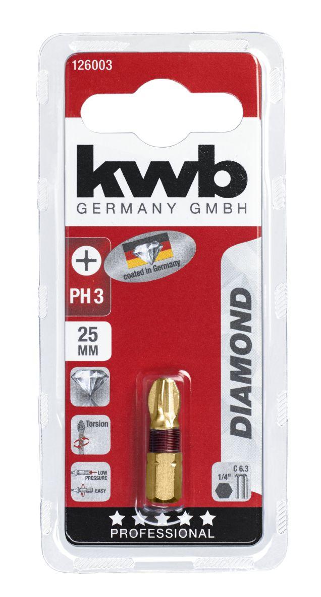diamant schraubendreherbits phillips nr 3 sb